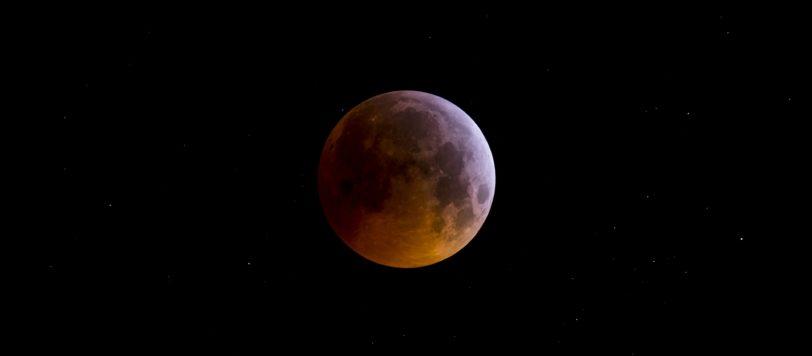 Foto vom Blutmond bei der Mondfinsternis am 21.01.2019
